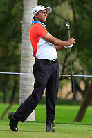 S.S.P. Chawrasia (IND) on the 4th tee during Round 1 of the Omega Dubai Desert Classic, Emirates Golf Club, Dubai,  United Arab Emirates. 24/01/2019<br /> Picture: Golffile | Thos Caffrey<br /> <br /> <br /> All photo usage must carry mandatory copyright credit (&copy; Golffile | Thos Caffrey)