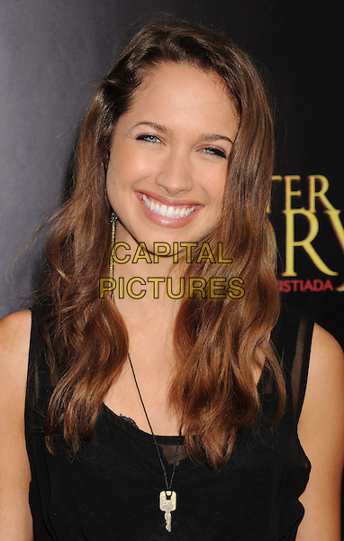 """Miaira Walsh.The Los Angeles premiere of """"For Greater Glory"""" at the AMPAS Samuel Goldwyn Theater in Beverly Hills, California, USA..May 31, 2012.headshot portrait smiling black  .CAP/ROT/TM.© TM/Roth/Capital Pictures"""