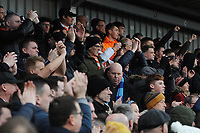 Blackpool fans applaud their team at the final whistle <br /> <br /> Photographer Kevin Barnes/CameraSport<br /> <br /> The EFL Sky Bet League One - Fleetwood Town v Blackpool - Saturday 7th March 2020 - Highbury Stadium - Fleetwood<br /> <br /> World Copyright © 2020 CameraSport. All rights reserved. 43 Linden Ave. Countesthorpe. Leicester. England. LE8 5PG - Tel: +44 (0) 116 277 4147 - admin@camerasport.com - www.camerasport.com