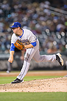 Durham Bulls relief pitcher Kyle Winkler (26) follows through on his delivery against the Charlotte Knights at BB&T BallPark on May 15, 2017 in Charlotte, North Carolina. The Knights defeated the Bulls 6-4.  (Brian Westerholt/Four Seam Images)
