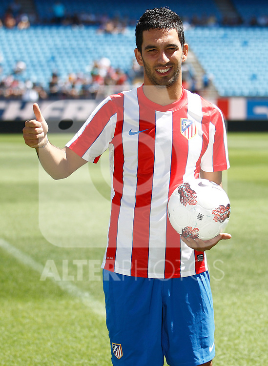 Atletico de Madrid's new player Arda Turan during his official presentation. August 16, 2011. (ALTERPHOTOS/B.Echavarri)