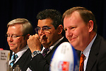 The Grand Final Breakfast, Melbourne Exhibition Centre 29-9-07 L to R Kevin Rudd, Andrew Demitriou, Peter Costello..