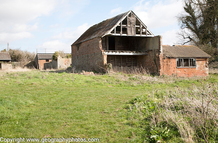 Old disused barn in Ramsholt, Suffolk, England