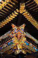 After re-painting Kuno-zan Tokugawa shrine`s splendid colors have been restored to their former glory.