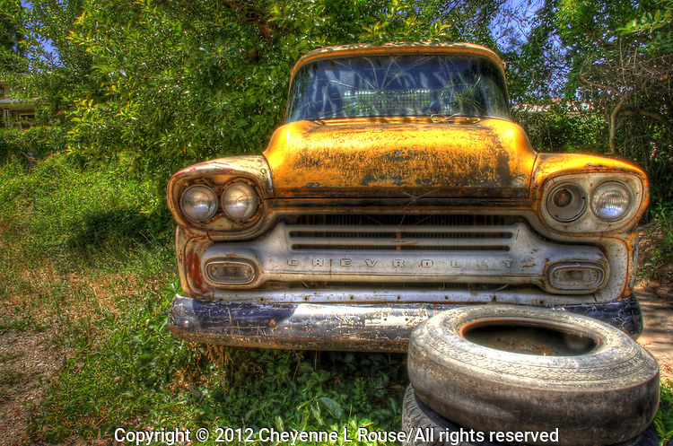 '59 Chevrolet Apache Truck in Chimayo, New Mexico - Yellow