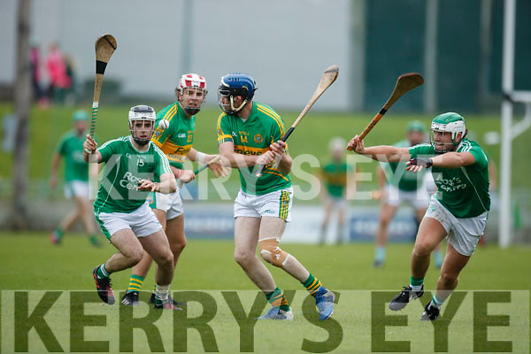 Jack Goulding Ballyduff in action against Michael Conway Lixnaw in the Senior County Hurling Final in Austin Stack Park on Sunday