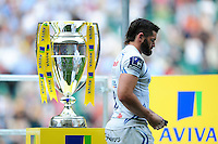 Don Armand of Exeter Chiefs walks past the Aviva Premiership trophy looking dejected. Aviva Premiership Final, between Saracens and Exeter Chiefs on May 28, 2016 at Twickenham Stadium in London, England. Photo by: Patrick Khachfe / JMP
