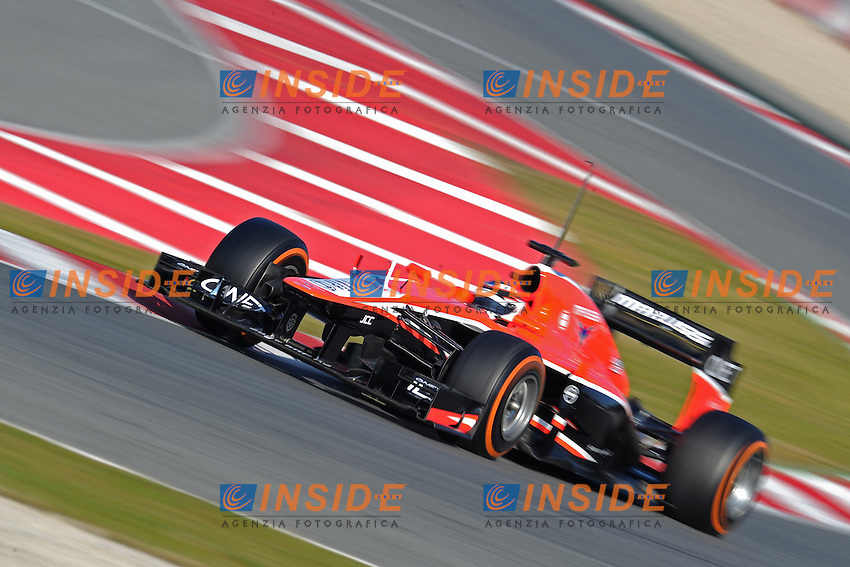 formula 1: Test  Barcelone  20/02/2013.MAX CHILTON (GBR) -MARUSSIA MR02 - ACTION  ...Foto Insidefoto / ITALY ONLY