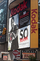 The Kodak advertising board is pictured on Times Square in the New York City borough of Manhattan, NY, Tuesday August 2, 2011.
