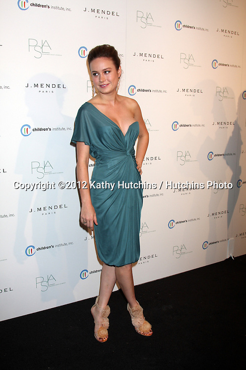 LOS ANGELES - OCT 17:  Brie Larson arrives at  3rd Annual Autumn Party with designer J Mendel at The London West Hollywood on October 17, 2012 in West Hollywood, CA