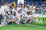 Real Madrid during Santiago Bernabeu Trophy match at Santiago Bernabeu Stadium in Madrid, Spain. August 11, 2018. (ALTERPHOTOS/Borja B.Hojas)