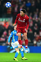 Liverpool's Trent Alexander-Arnold in action<br /> <br /> Photographer Richard Martin-Roberts/CameraSport<br /> <br /> UEFA Champions League Group C - Liverpool v Napoli - Tuesday 11th December 2018 - Anfield - Liverpool<br />  <br /> World Copyright © 2018 CameraSport. All rights reserved. 43 Linden Ave. Countesthorpe. Leicester. England. LE8 5PG - Tel: +44 (0) 116 277 4147 - admin@camerasport.com - www.camerasport.com