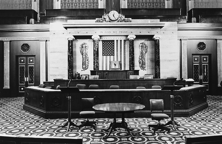 Interior of House Chamber. (Photo by Maureen Keating/CQ Roll Call via Getty Images)