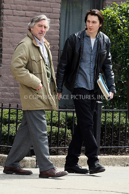 WWW.ACEPIXS.COM . . . . .  ....March 30 2011, New York City....Actors Robert De Niro and Paul Dano on the Queens set of the new movie 'Another Bullshit Night in Suck City' on March 30 2011 in New York City....Please byline: PHILIP VAUGHAN - ACE PICTURES.... *** ***..Ace Pictures, Inc:  ..Philip Vaughan (212) 243-8787 or (646) 679 0430..e-mail: info@acepixs.com..web: http://www.acepixs.com