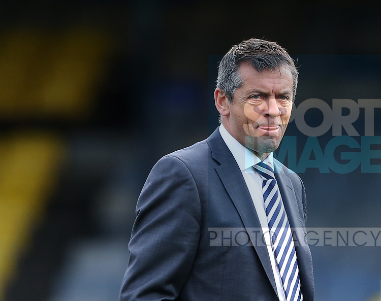 Southend's Phil Brown look on during the League One match at Roots Hall Stadium.  Photo credit should read: David Klein/Sportimage