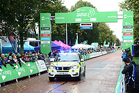 Picture by Simon Wilkinson/SWpix.com - 10/09/2017 - Cycling - OVO Energy Tour of Britain - Stage 8 Worcester to Cardiff - final stage<br /> Finish Cardiff - podiums<br /> POLICE BMW