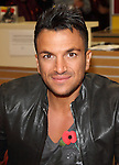 Peter Andre signing  copies of his new album 'Angels & Demons' at Sainsburys, London Colney.St Albans, England - 29.10.12 Picture By: Brian Jordan / Retna Pictures. .-.