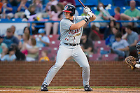 Nick Weglarz (8) of the Kinston Indians at bat versus the Winston-Salem Warthogs at Ernie Shore Field in Winston-Salem, NC, Saturday May 17, 2008.