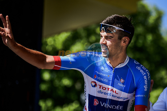 Lilian Calmejane (FRA) Total Direct Energie at sign on before Stage 10 of the 2019 Tour de France running 217.5km from Saint-Flour to Albi, France. 15th July 2019.<br /> Picture: ASO/Pauline Ballet   Cyclefile<br /> All photos usage must carry mandatory copyright credit (© Cyclefile   ASO/Pauline Ballet)