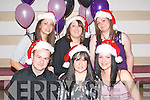 XMAS CRACKERS: Staff from Carmels Discount Store, Rock St., Tralee, enjoying their Christmas staff party in Gally's Bar & Restaurant last Saturday night, front l-r: Steven Joyce, Carmel Mary Joyce and Santa Krumina. Back l-r: Sofia and Samina Ali and Mandy Ross.   Copyright Kerry's Eye 2008