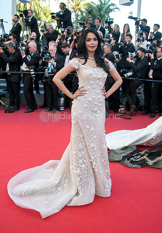 Mallika Sherawat arrives at the premiere of Ismael's Ghosts (Les Fantomes d'Ismael) during the 70th Annual Cannes Film Festival at Palais des Festivals in Cannes, France, on 17 May 2017. Photo: Hubert Boesl <br />