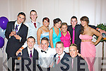 At the Colaiste Na Sceilge Debs Ball were front l-r; Damien Kelly, Conor Quirke, Bernard Walsh, Stephen O'Sullivan, back l-r; Colm O'Sullivan, Michael O'Sullivan,Karen O'Neill, Deirdre Murphy, Aoife Boland Brendan Devane & Aoife Musgrave.