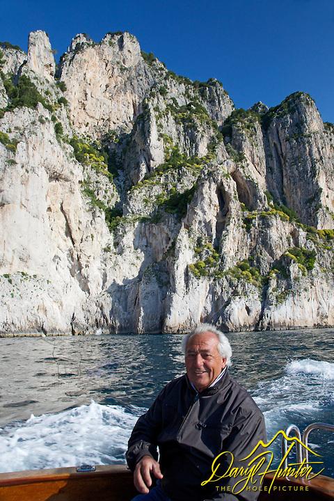 Alejandro, boat captain, tour guide, Capri, Italy