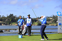 Scott Piercy (USA) tees off the par3 7th tee at Pebble Beach Golf Links during Saturday's Round 3 of the 2017 AT&amp;T Pebble Beach Pro-Am held over 3 courses, Pebble Beach, Spyglass Hill and Monterey Penninsula Country Club, Monterey, California, USA. 11th February 2017.<br /> Picture: Eoin Clarke | Golffile<br /> <br /> <br /> All photos usage must carry mandatory copyright credit (&copy; Golffile | Eoin Clarke)