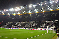 Choreographie der Eintracht Fans - 04.10.2018: Eintracht Frankfurt vs. Lazio Rom, UEFA Europa League 2. Spieltag, Commerzbank Arena, DISCLAIMER: DFL regulations prohibit any use of photographs as image sequences and/or quasi-video.