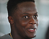 Teddy Bridgewater #5 of the New York Jets speaks with the media after a day of training camp at the Atlantic Health Jets Training Center in Florham Park, NJ on Monday, Aug. 6, 2018.