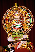 January 25th 2008 _Trivandrum, India_Actors and musicians perform the 500 year old traditional southern Indian dance drama known as Kathakali in the Southern Indian town of Trivandrum, which is the capital city of Kerala state. Photograph by Daniel J. Groshong/Tayo Photo Group