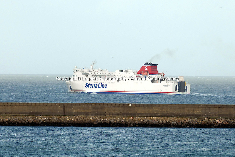 "Pictured: A Stena Lines ferry leaves the port of Fishguard west Wales.STOCK PICTURE<br /> Re: A ferry is back in port in Wales after its passengers and crew spent the night stranded in the Irish Sea.<br /> The Stena Line ferry between Rosslare and Fishguard in Pembrokeshire was unable to dock on Monday with 87 passengers and 59 crew stuck onboard.<br /> It was forced to sail to sheltered waters off the Llyn Peninsula in north Wales overnight and eventually docked nearly 24 hours later than planned.<br /> It follows flooding across Wales in the wake of Storm Angus.<br /> Diane Poole from the ferry operator said passengers had been in ""really good spirits"" despite their night at sea.<br /> ""The ship was well sheltered, they had a comfortable evening and they were well looked after, and they are in very good form this morning,"" she said."