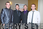 SOCIAL: Attending the St Brendan's Hurling Club, Ardfert presentetion of medals social in Ballyroe Heights Hotel, Tralee on Saturday night, l-r: Daniel Casey, Sean Horgan, Joe Browne and Patrick Carroll.