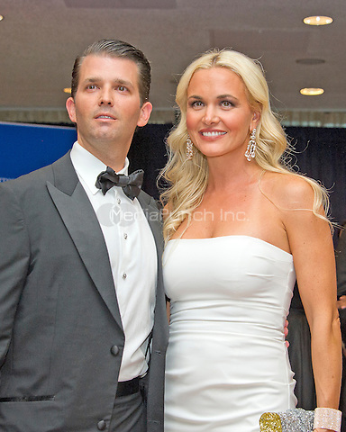 Donald Trump Jr., left, and Vanessa Haydon Trump arrive for the 2016 White House Correspondents Association Annual Dinner at the Washington Hilton Hotel on Saturday, April 30, 2016.<br /> Credit: Ron Sachs / CNP<br /> (RESTRICTION: NO New York or New Jersey Newspapers or newspapers within a 75 mile radius of New York City)/MediaPunch