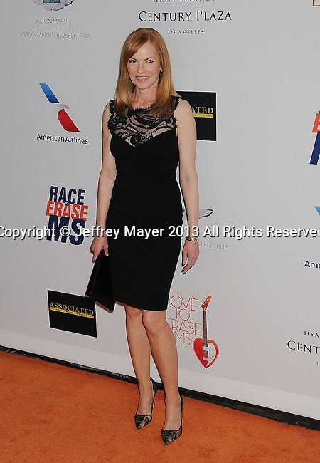 CENTURY CITY, CA- MAY 03: Actress Marg Helgenberger  arrives at the 20th Annual Race To Erase MS Gala 'Love To Erase MS' at the Hyatt Regency Century Plaza on May 3, 2013 in Century City, California.
