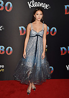 HOLLYWOOD, CA - MARCH 11: Lily Chee attends the premiere of Disney's 'Dumbo' at El Capitan Theatre on March 11, 2019 in Los Angeles, California.<br /> CAP/ROT/TM<br /> &copy;TM/ROT/Capital Pictures