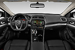 Stock photo of straight dashboard view of 2020 Nissan Maxima SV 4 Door Sedan Dashboard