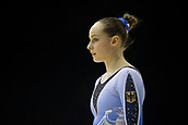 22nd March 2018, Arena Birmingham, Birmingham, England; Gymnastics World Cup, day two, womens competition; Sarah Voss (GER) warming up before the competition
