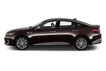 Car driver side profile view of a 2017 KIA Optima SX Limited AT 4 Door Sedan