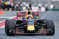 March 25, 2017: Daniel Ricciardo (AUS) #3 from the Red Bull Racing team leaves the pits for the qualifying session at the 2017 Australian Formula One Grand Prix at Albert Park, Melbourne, Australia. Photo Sydney Low