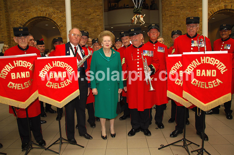 **ALL ROUND PICTURES FROM SOLARPIX.COM**.**WORLDWIDE SYNDICATION RIGHTS**.Dame Vera Lynn celebrated her 90th birthday on tuesday at the Imperial War Museum along with Baroness Thatcher, Kathrin Jenkins and the boys from the Chelsea Pensioners.This pic:MARGRET THATCHER AND CHELSEA PENSIONERS.JOB REF:3544-MSR    DATE:20_03_07 .**MUST CREDIT SOLARPIX.COM OR DOUBLE FEE WILL BE CHARGED* *UNDER NO CIRCUMSTANCES IS THIS IMAGE TO BE REPRODUCED FOR ANY ONLINE EDITION WITHOUT PRIOR PERMISSION*