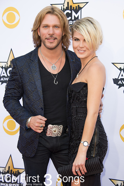 Craig Wayne Boyd and Taylor Borland attend the 50th Academy Of Country Music Awards at AT&T Stadium on April 19, 2015 in Arlington, Texas.