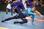 VELUX EHF 2017/18 EHF Men's Champions League Last 16.<br /> FC Barcelona Lassa vs Montpellier HB: 30-28.<br /> Nikola Portner.