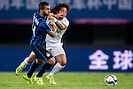 (L) Martin Motoya of FC Internazionale Milano competes for the ball with (R) Marcelo of Real Madrid CF during the FC Internazionale Milano vs Real Madrid  as part of the International Champions Cup 2015 at the Tianhe Sports Centre on 27 July 2015 in Guangzhou, China. Photo by Aitor Alcalde / Power Sport Images