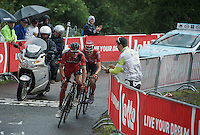 With 1 lap to go Philippe Gilbert (BEL/BMC) &amp; Tim Wellens (BEL/Lotto-Soudal) have a comfortable lead over the other riders up 'Le Petit Poggio'<br /> <br /> Belgian National Road Cycling Championships 2016<br /> Les Lacs de l'Eau d'Heure