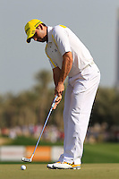 Sergio Garcia (ESP) takes his putt on the 5th green during Friday's Round 3 of the Commercial Bank Qatar Masters 2013 at Doha Golf Club, Doha, Qatar 25th January 2013 .Photo Eoin Clarke/www.golffile.ie