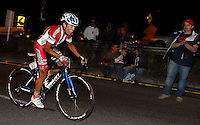 COLOMBIA. 16-08-2014. Luis Fernando Camargo ciclista durante la contrarreloj individual nocturna de 17.5 Km en la penúltima etapa de la Vuelta a Colombia 2014 en bicicleta que se cumple entre el 6 y el 17 de agosto de 2014. / Luis Fernando Camargo cyclist during the night individual time trial of 17.5 Km in the penultimate stage of the Tour of Colombia 2014 in bike holds between 6 and 17 of August 2014. Photo:  VizzorImage/ José Miguel Palencia / Str