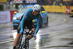 Dmitriy Gruzdev (KAZ) Astana in action during Stage 1, a 14km individual time trial around Dusseldorf, of the 104th edition of the Tour de France 2017, Dusseldorf, Germany. 1st July 2017.<br /> Picture: Eoin Clarke | Cyclefile<br /> <br /> <br /> All photos usage must carry mandatory copyright credit (&copy; Cyclefile | Eoin Clarke)