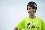 Wings for Life Ambassador and TV News Anchor Hua Chin poses for a photograph during the Wings for Life World Run on 08 May, 2016 in Yilan, Taiwan. Photo by Victor Fraile / Power Sport Images