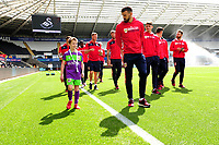 Child mascot of Bristol City prior to the Sky Bet Championship match between Swansea City and Bristol City at the Liberty Stadium, Swansea, Wales, UK. Saturday 25 August 2018